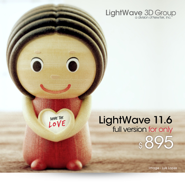 LightWave 3D Group - LightWave 11.6 for only $895